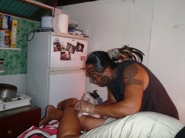 getting my tatoo