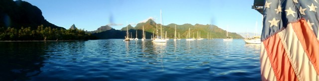 Moorea anchorage panoramic