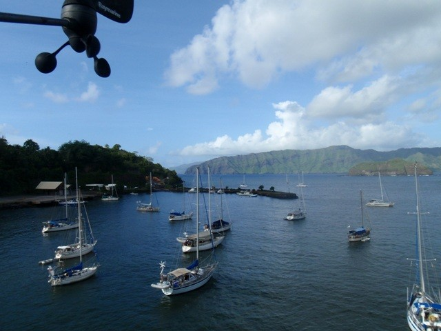 Hiva Oa view from the top of the mast