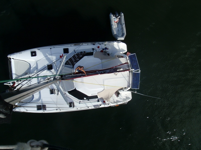 Picture from top of mast