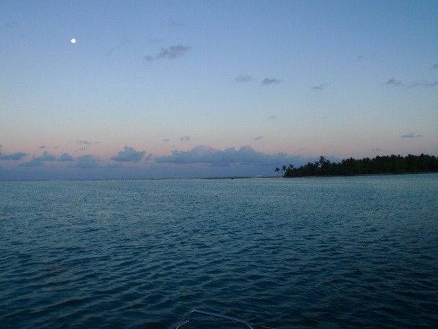 Moonrise at the remote anchorage